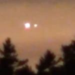 Bright UFO lights over Harpswell, Maine