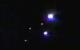 Flashing lights captured over Champaign, Illinois