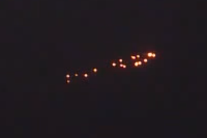 Multiple lights seemingly in formation seen over northern India